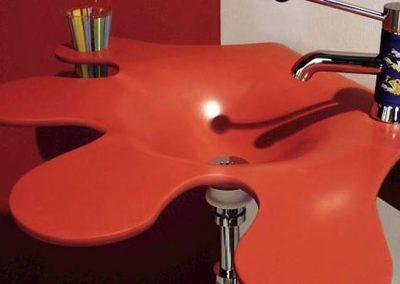 Corian-Red-Modern-Sink