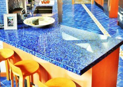 Vetrazzo-Cobalt-Skyy-Dining-Counter